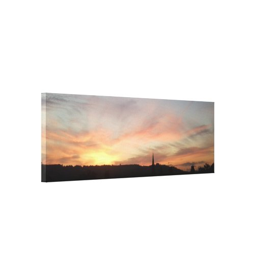 Sunset Horizon Wrapped Canvas from Photo