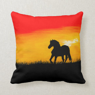 sunset horse cushion