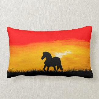 sunset horse lumbar cushion