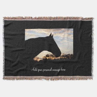 Sunset Horse Throw Blanket