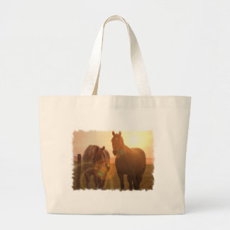 Sunset Horses Canvas Bag