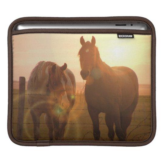 Sunset Horses iPad Sleeve