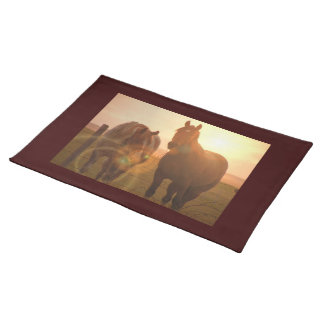 Sunset Horses Placemat