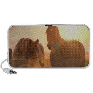 Sunset Horses  Portable Speakers