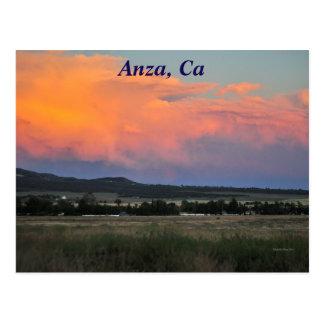Sunset In Anza, CA Postcard