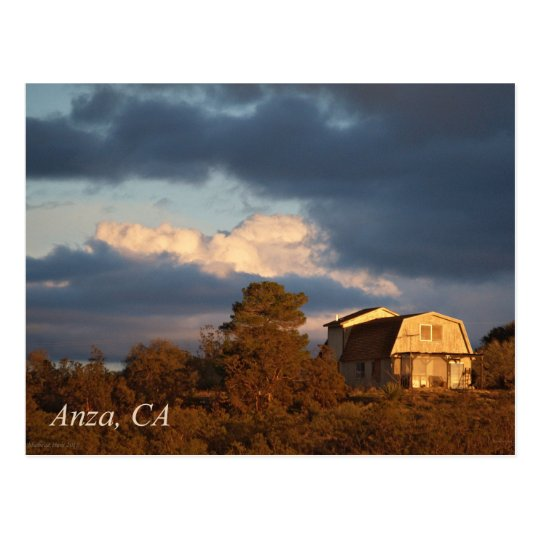 Sunset in Anza, California Postcard