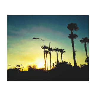 Sunset in Arizona Canvas Print