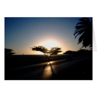 Sunset in Aruba Card