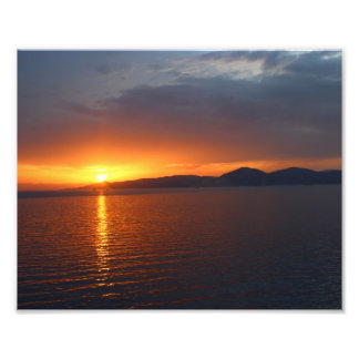 Sunset in Athens Art Photo