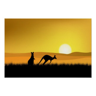 Sunset in Australia Poster