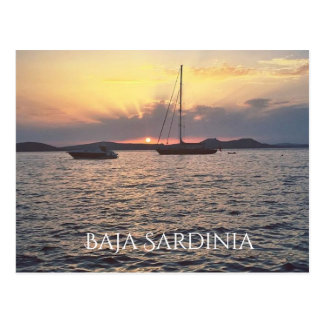 Sunset in Baja Sardinia Postcard