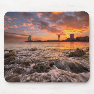 Sunset In Barcelona Mouse Mat