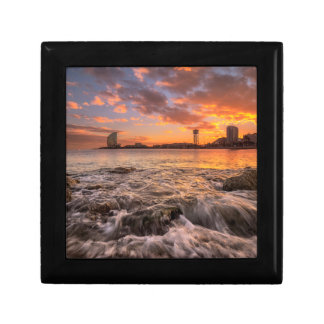 Sunset In Barcelona Small Square Gift Box