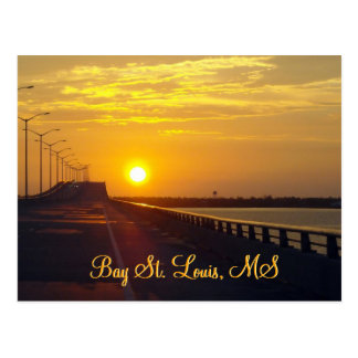 Sunset in Bay St. Louis, MS Postcard
