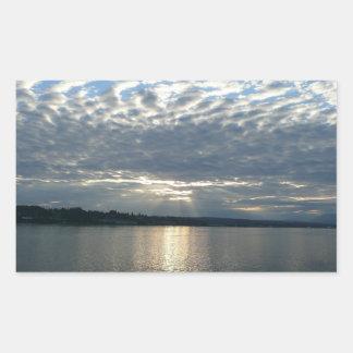 Sunset in British Columbia I Canadian Seascape Rectangular Sticker