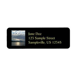 Sunset in British Columbia I Canadian Seascape Return Address Label