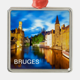 Sunset in Bruges. Belgium Christmas Ornament