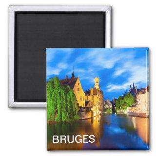 Sunset in Bruges. Belgium Magnet