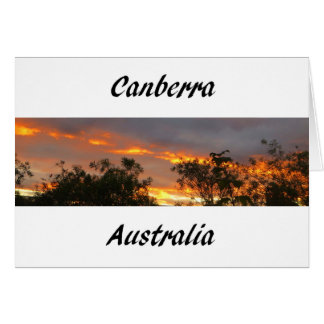 Sunset in Canberra Greeting Card