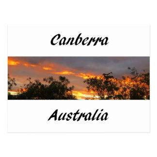 Sunset in Canberra Postcard