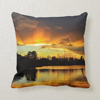 Sunset In City Londrina, Brazil Cushion