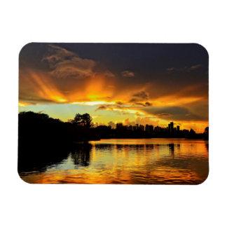 Sunset In City Londrina, Brazil Rectangular Photo Magnet