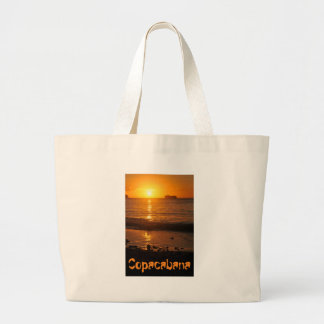 Sunset in Copacabana, Brazil Large Tote Bag