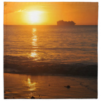 Sunset in Copacabana, Brazil Napkin