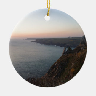 Sunset in Cornwall Christmas Ornament