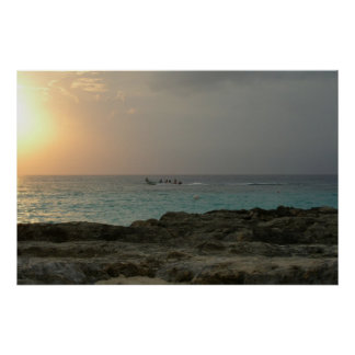 Sunset in Cozumel Poster