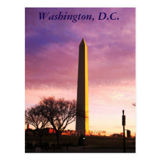 Sunset in D.C. Postcard