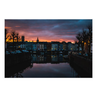 Sunset in Gent Photo Print