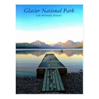 Sunset in Glacier National Park Postcard