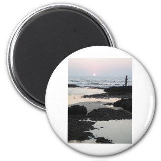 sunset in Goa 6 Cm Round Magnet