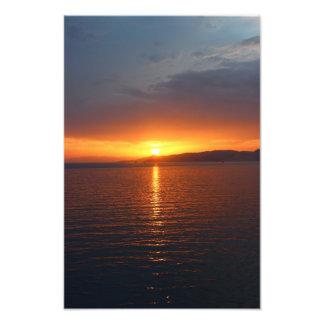 Sunset in Greece Art Photo