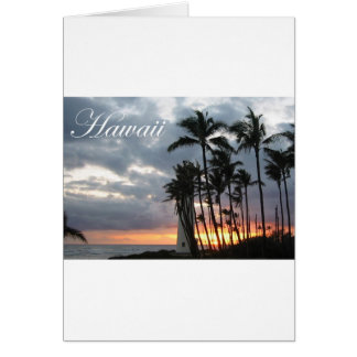 Sunset in Hawaii 2 Card