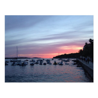Sunset in Hvar Postcard