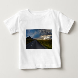Sunset in iceland baby T-Shirt