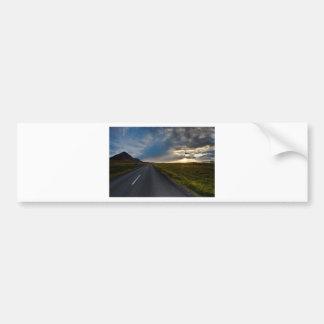 Sunset in iceland bumper sticker