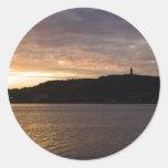 sunset in ireland round sticker