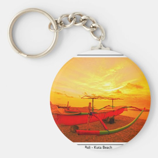 Sunset in Kuta Basic Round Button Key Ring