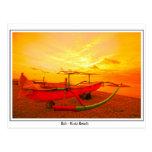 Sunset in Kuta Postcards