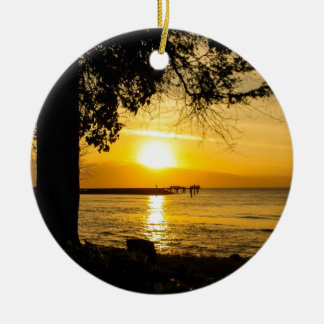 Sunset in Lahaina Christmas Ornament