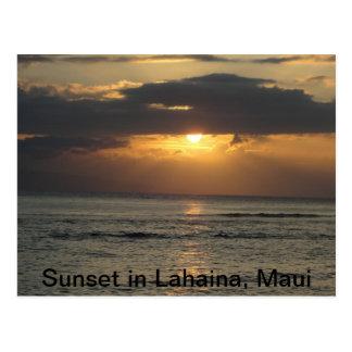 Sunset in Lahaina, Maui Postcard