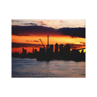 Sunset in London Gallery Wrap Canvas