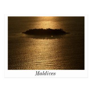 Sunset in Maldives Postard Postcards