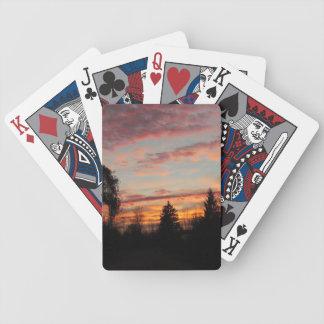 Sunset in Michigan Poker Deck