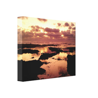 Sunset in Morocco Canvas Print