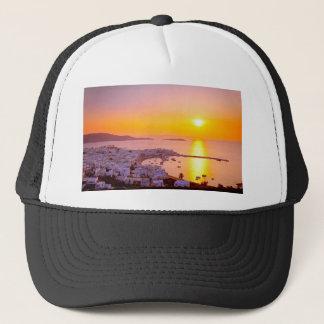 Sunset in Mykonos, Greece Trucker Hat