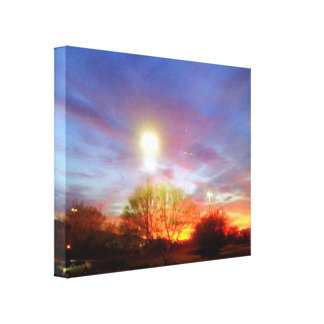 Sunset In Nevada Canvas Print